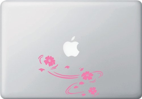 "MacBookアートステッカー 桜吹雪き ""Floating Cherry Blossoms"""