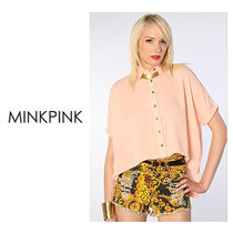 MINKPINK(ミンクピンク) ブラウス・シャツ 最短翌日着)MINK PINK  The Four Corners Shirt in Blush