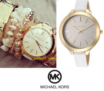 Simple popular Michael Kors MK2273 White Leather watch