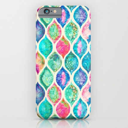 Society6 iPhone・スマホケース Society6 ケース Watercolor Ogee Patchwork Pattern by Micklyn