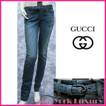 GUCCI★グッチ★素敵!blue Jeans w bamboo belt