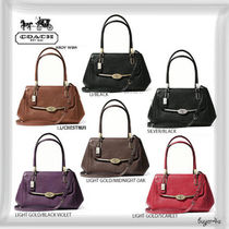 COACH★MADISON SMALL MADELINE EAST/WEST SATCHEL IN LEATHER