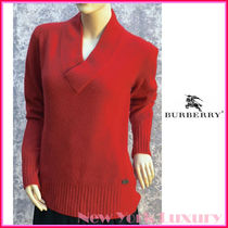 Burberry London★素敵!100% Cashmere Red Top Sweater