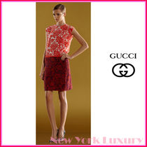 GUCCI★グッチ★素敵! Silk Floral Mixed-Print Dress