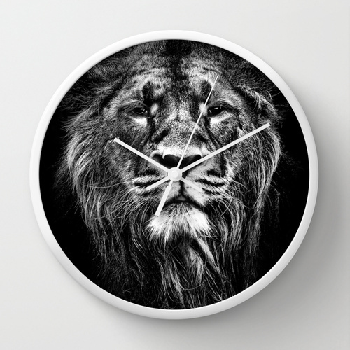 Society6★置き時計・掛け時計★male asiatic lion by Meirion