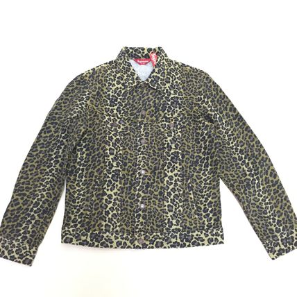 Supreme SS15 Leopard Denim Jacket size Medium ステッカー付き
