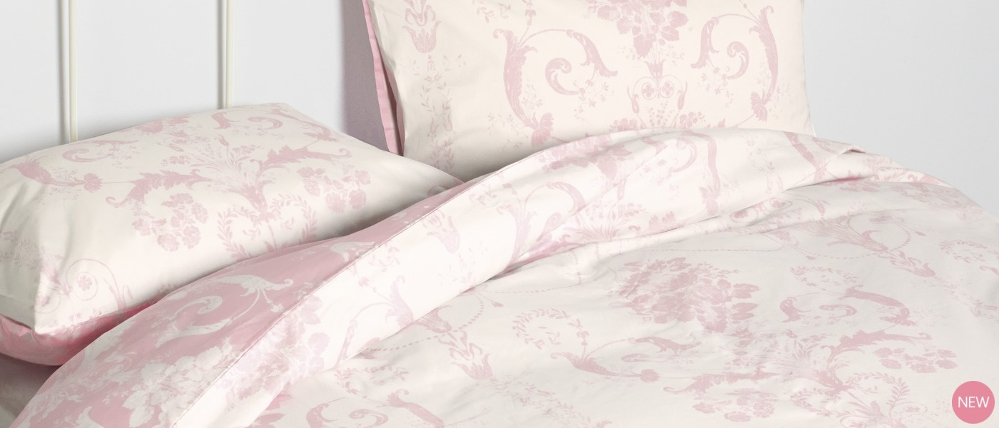Laura Ashley☆Josette Cyclamen Cotton Bedsetシングル♪
