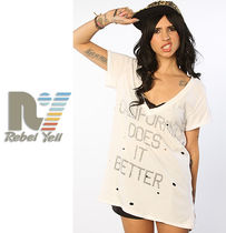 最短翌日着)Rebel Yell California Destroyed V Tee Tシャツ