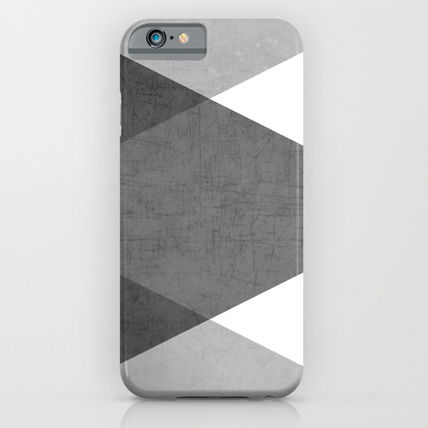 Society6 iPhone・スマホケース Society6 ケース black and white triangles by Her Art