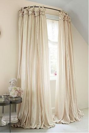 In tasteful and sweet style Shabby Chic Balloon Drapery