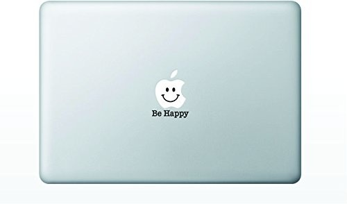 "MacBook 対応 アートステッカー ""be happy smiley face"""