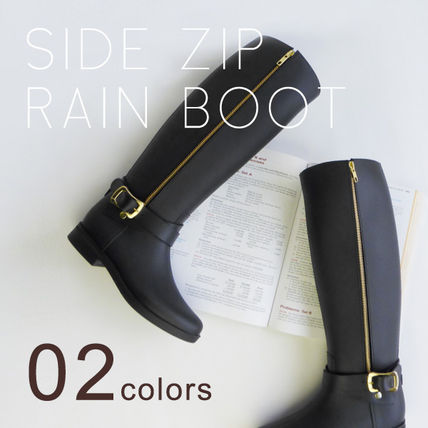 Pompadour Side Zip Rain Boot side dip rain boots