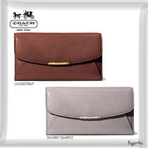 COACH★MADISON CHECKBOOK WALLET IN LEATHER
