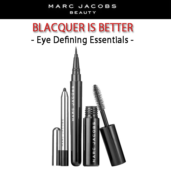 MARC JACOBS Blacquer is Better/大人気のアイメイク3点セット