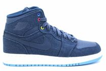 Air Jordan Retro 1 High BG GS Denim 4-7Y デニム 送料無料