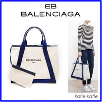 大人気!セレブ愛用♪BALENCIAGA☆Large Canvas Logo Tote☆