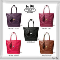 COACH★LEGACY TURNLOCK TOTE IN LEATHER