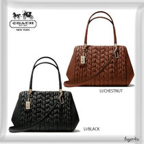COACH★WEST SATCHEL IN GATHERED CHEVRON LEATHER