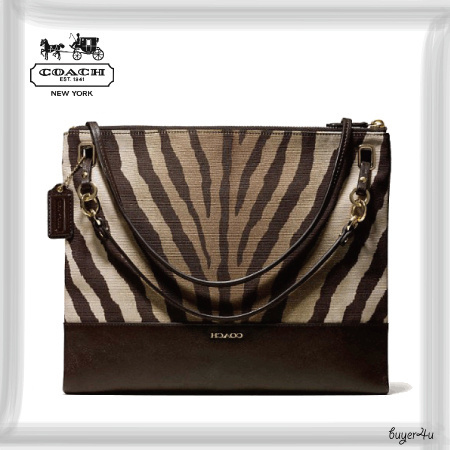 COACH★MADISON CONVERTIBLE HIPPIE IN ZEBRA PRINT FABRIC
