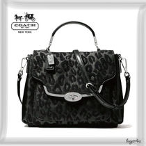 COACH★MADISON SMALL SADIE FLAP SATCHEL IN CHENILLE OCELOT