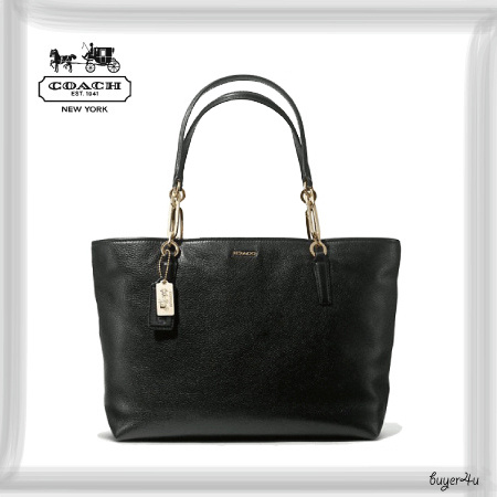COACH新作★MADISON EAST/WEST TOTE IN LEATHER