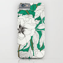 Society6 ケース green peonies by Marcella Wylie