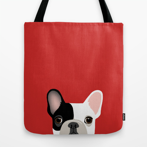 Society6◆トートバッグ◆M - 約40cm x 約40cm◆French Bulldog