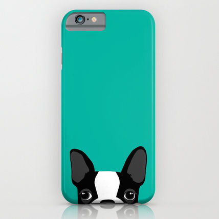 Society6 iPhone・スマホケース Society6 ケース Boston Terrier by Anne Was Here