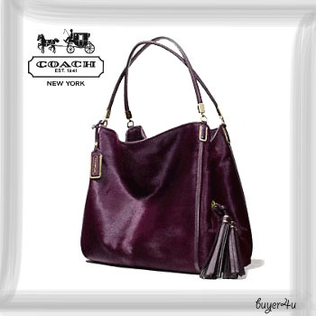 COACH新作★MADISON PHOEBE SHOULDER BAG IN MIXED HAIRCALF