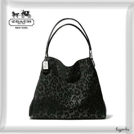 a46f00d8e000 COACH☆MADISON SMALL PHOEBE SHOULDER BAG IN CHENILLE OCELOT【全国 ...