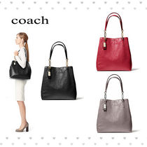 【coach】MADISON NORTH/SOUTH TOTE IN LEATHER