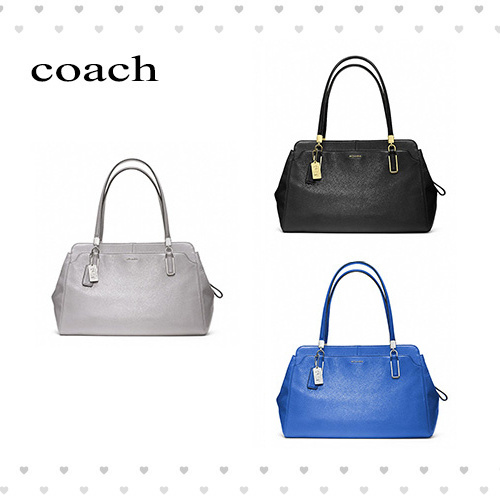 【coach】MADISON LEATHER CARRYALL