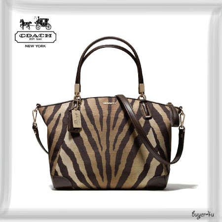 COACH☆MADISON SMALL KELSEY SATCHEL IN ZEBRA PRINT FABRIC