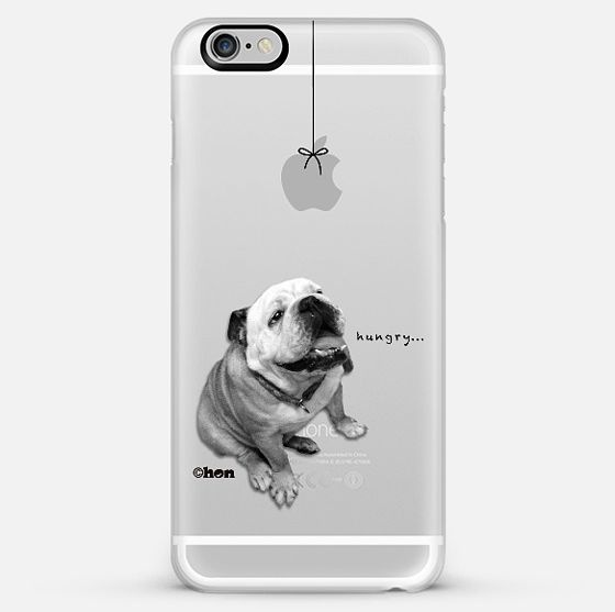 【送料込】☆Casetify HUNGRY BULLDOG iPhoneクリアケース☆