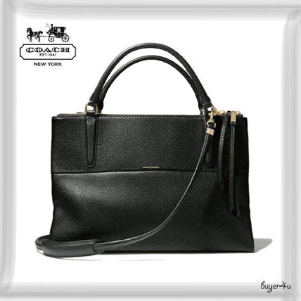 COACH新作☆THE BOROUGH BAG IN PEBBLED LEATHER
