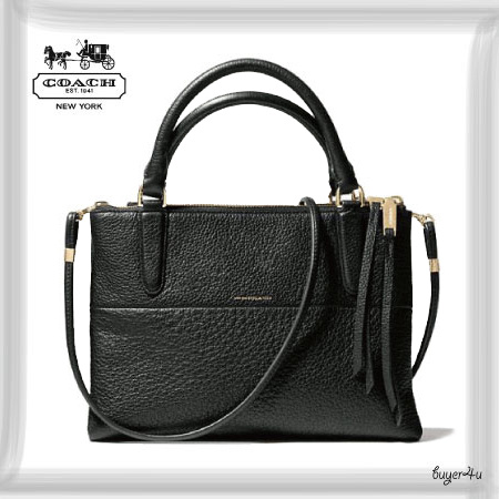 COACH新作☆THE MINI BOROUGH BAG IN PEBBLED LEATHER