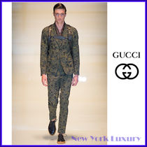 GUCCI★グッチ★素敵!Runway Floral Print Green Jacket