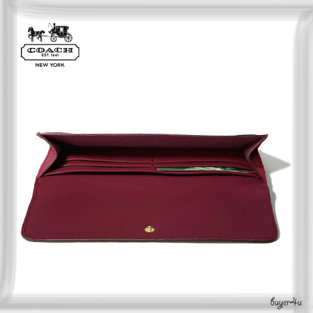 COACH★SOFT WALLET IN SAFFIANO LEATHER
