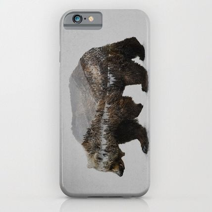 Society6 iPhone・スマホケース Society6 ケース Davies Babies The Kodiak Brown