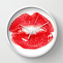 Society6★置き時計・掛け時計★Kiss by Paint The Moment