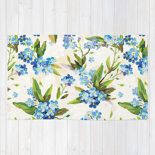 Society6◆ラグマット◆M:約91.0cm × 約152.0cm◆FLORAL by Mad