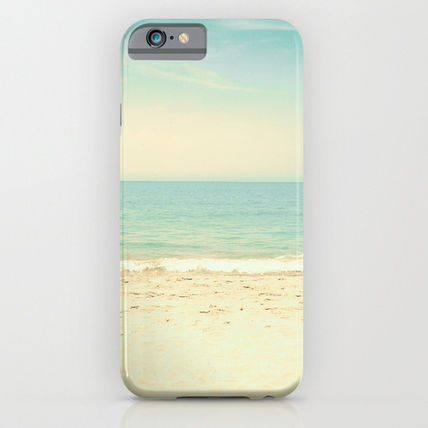 Society6 iPhone・スマホケース Society6 ケース Pale blue retro beach by AC Photography