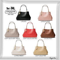 COACH★MADISON CAFE CARRYALL IN LEATHER