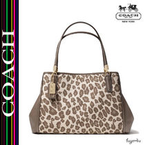 COACH★MADISON CAFE CARRYALL IN OCELOT JACQUARD