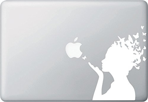 "MacBook アートステッカー ""バタフライガール"" ""Butterfly Girl"""