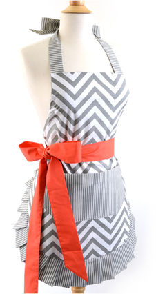 flirty apron Chevron stripe apron