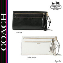COACH★MADISON LARGE CLUTCH IN TWO TONE PYTHON EMBOSSED