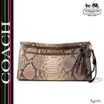 COACH★MADISON LARGE CLUTCH IN PYTHON EMBOSSED LEATHER
