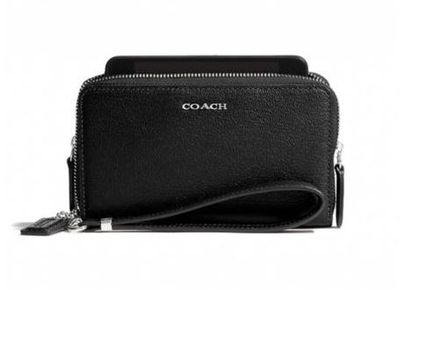 Coach Madison Leather Double Zip Phone Wristlet #F69382