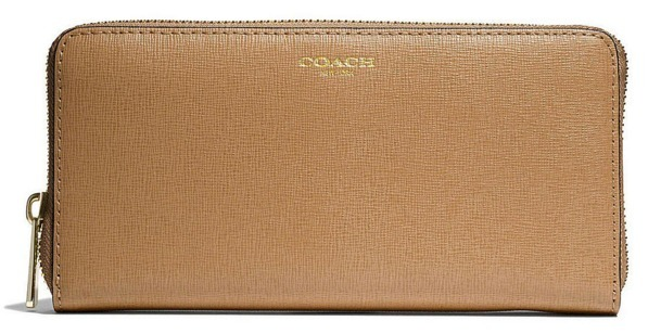 COACH★ACCORDION ZIP WALLET IN SAFFIANO LEATHER